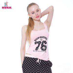 Kuka Number Print Yoga Vest Sexy Pajam Waistcoat Underwear