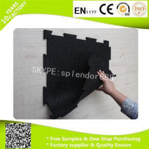 Rubber Border and Corner for Puzzle Interlock Gym Rubber Flooring Ramps Easy Install pictures & photos