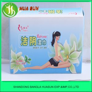 Natural Herbal Female Wet Wipes 10 Bags pictures & photos