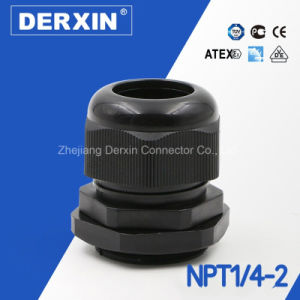 NPT1/4-NPT2 ISO Certified IP68 Protection Level Nylon Cable Gland pictures & photos