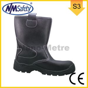 Nmsafety Emboss Cow Split Leather High Work Boots pictures & photos