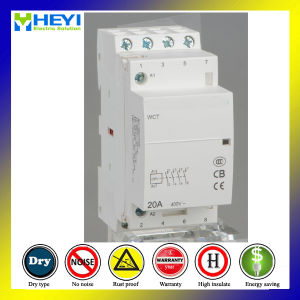 4p 20A 2nc 2no AC Electrical Type household Type DIN Rail Modular AC Contactor pictures & photos