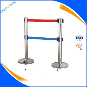 Retractable Line Rope Belt Stanchions Stand Pole Queue Barrier pictures & photos