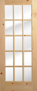 French Door/Pine Wood Glass Door