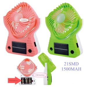 Rechargeable Solar LED Fan Lamp, Portable Fan Lamp pictures & photos