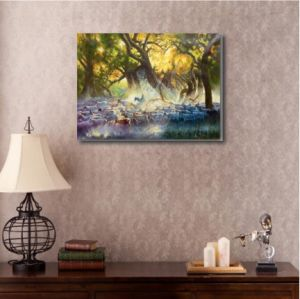 Canvas Oil Painting-The Light of The Early Morning Sun pictures & photos