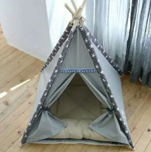 Foldable Indoor Wooden House Indian Tent for Pet Dog Cat pictures & photos