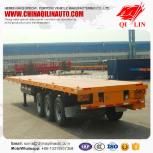 Multi Used High Quality Flatbed Cargo Trailer for Sale pictures & photos