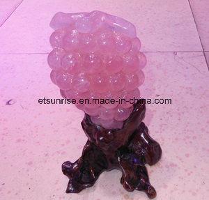 Semi Precious Stone Crystal Display Grape Stone Gemstone (ESB01677) pictures & photos