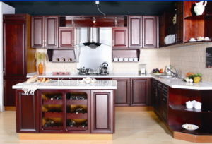 Solid Wood Kitchen Cabinet #249 pictures & photos