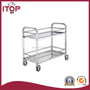 Apply to Restaurant 2 Tiers Assembled Liquor and Wine Cart (AWC-T24) pictures & photos