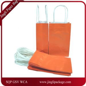 Small Paper Gift Handle Bags, Color Folding Customized Papar Shopping Bag, pictures & photos