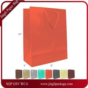 Matte Laminated Euro Tote Paper Gift Bag, Color Folding Customized Paper Gift Bag, Shopping Paper Bag Print Logo pictures & photos