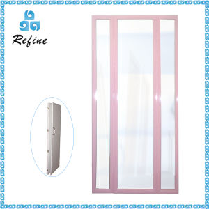 Pink Framed Wood Dressing Mirror Stand Flexible Mirror