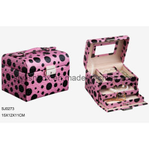 Portable Elegant Travel Jewelry Box (SJ0273)