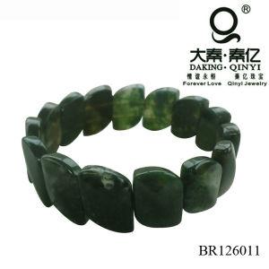 Green Agate Bracelet, Green Semiprecious Stone Bracelet, Elastic Stone Bracelet pictures & photos