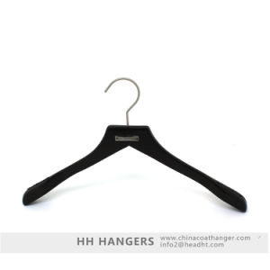 Branded Metal Antique Brown Adult Suit Wooden Top Hanger, Wood Clothes Hanger pictures & photos