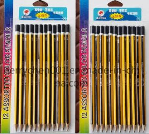 7 Inch Stripe Printing Tipped Pencil, Sky-043 pictures & photos