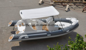 Liya 5.8m Luxury PVC or Hypalon Rib Boat Rigid Inflatable Boat pictures & photos