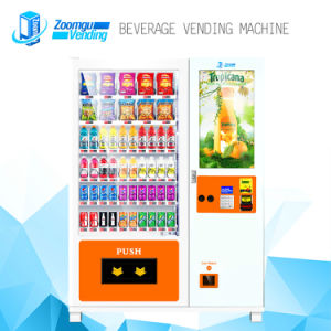 High Quality Coin and Bill Operated Cold Water Beverage Vending Machine with Elevator pictures & photos