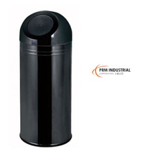 Black Gold Vacuum Plating Stainless Steel Flip Type Indoor Dustbins pictures & photos
