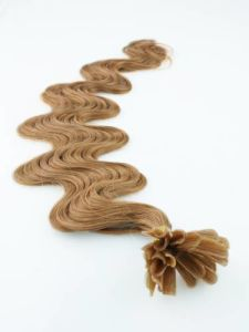Body Wave U Tip Italian Keratin Hot Fusion Hair Extensions pictures & photos