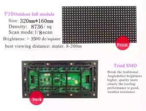 P10 Triad Encapsulation Outdoor LED Display Screen Module pictures & photos