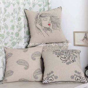 The Original Eco-Cotton Embroidered Linen Embroidered Pillow Customized Wholesale
