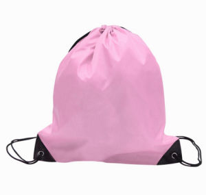 Mato & Hash Basic Cinch Sack Drawstring Pack Tote Promotion Back Pack Party Bag pictures & photos