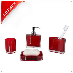 Classic Acrylic/Plastic Crystal Bathroom Accessories Set (TS8002-4) pictures & photos