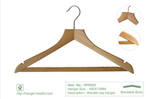 Natural Regular Wooden Clothes Hanger Hangers for Jeans pictures & photos