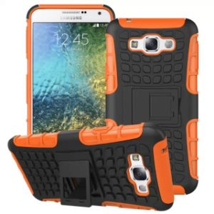 Protective Stand Combo Mobile Cell Phone Case for Samsung E7 pictures & photos