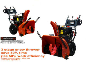 "420cc 34"" Working Width High Quality 3 Stage Snow Blower with LED Light Bar pictures & photos"