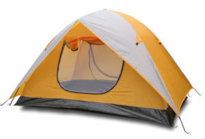Economic Double-Skin Polyester Camping Tent for 2 Persons (JX-CT030) pictures & photos