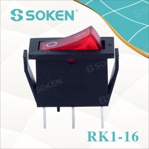 Soken Rk1-16 1X1n B/R on off Rocker Switch pictures & photos
