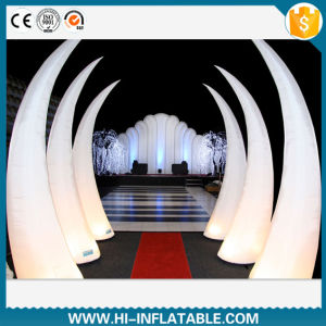 Wholesale Wedding Supplies, LED Lighting Inflatable Tusk Archway, Tube for Wedding, Event Decoration