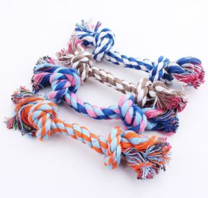 Pet Braided Cotton Rope Puppy Dog Chew Toy Knot Tug War Teeth Training Cleaning pictures & photos