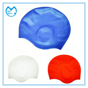 Logo Printing Unisex 100% Silicone Swim Caps for Long Hair pictures & photos