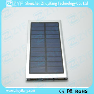 6000mAh Dual USB Port Super Thin External Battery Aluminum Solar Power Bank (ZYF8079) pictures & photos