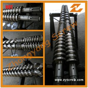 Conical Twin Screw Barrel for PVC Pipe pictures & photos