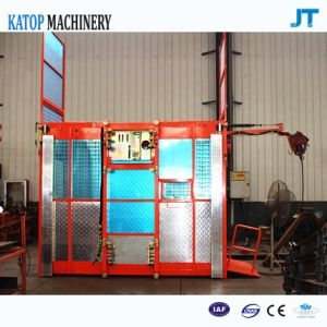 Single Cage Construction Hoist 1.5t Load Building Elevator pictures & photos