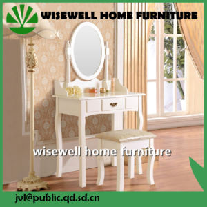 Modern Furniture Wooden Dressing Table with Stool (W-HY-031) pictures & photos