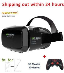 2016 2016 Vr Shinecon Black Virtual Reality Helmet Vr Box 3D Vr Glasses + T3 Bluetooth Controller/ Wireless Gamepad pictures & photos