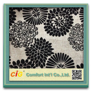 Fashion Bonding Flocking Suede Chenille Pattern Fabric for Sofa Upholstery Cushion (CIGD1N013) pictures & photos