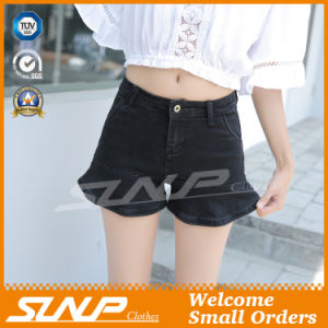 High Waisted Women Jean Cotton Shorts Trousers