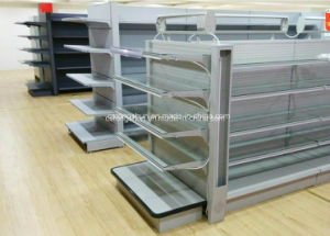 Supermarket Steel Shelf/Shelving for Commodity&Comestics with Lights pictures & photos