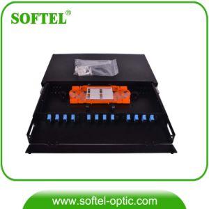 "19"" 48 Core Rack Mount Fiber Optic Distribution Box pictures & photos"