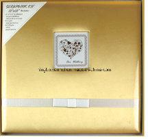 "12""X12"" Wedding Gold Fabric Cover Scrapbook Album Kit"