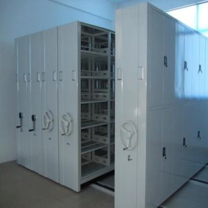 China Movable Space Saving Archives Steel Mobile Compact Movable Shelving pictures & photos
