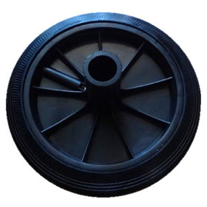 200mm Solid Rubber Wheel for Garbage Can (cheaper type)